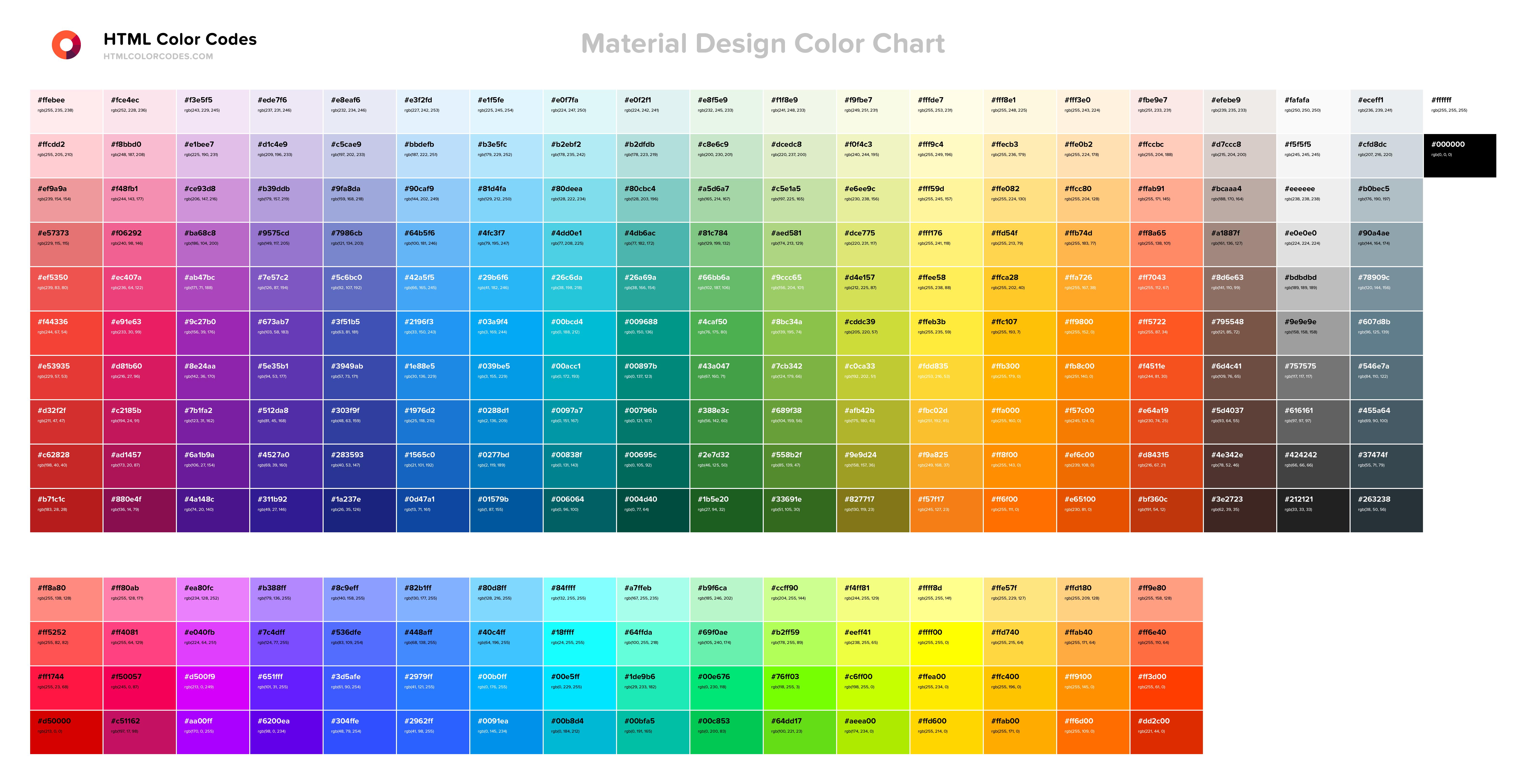 Material Colors By Rgr Myrg